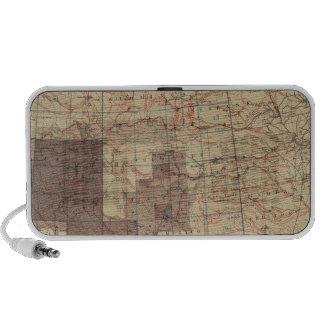 1876 Progress Map of The US Geographical Surveys Travel Speaker