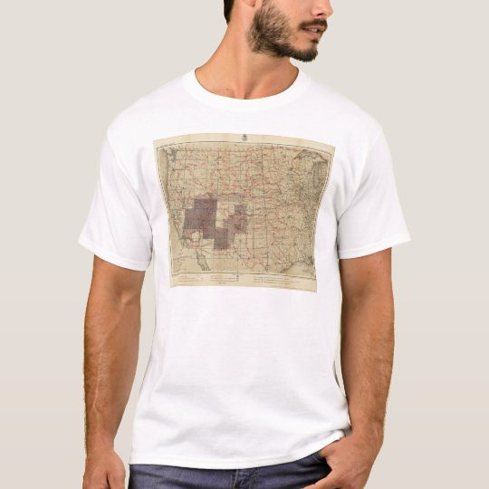 1876 Progress Map of The US Geographical Surveys T-Shirt
