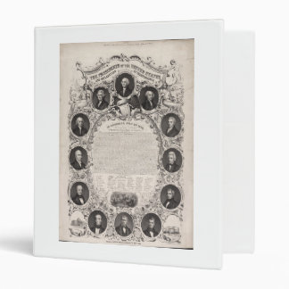1876 Reproduction The Declaration of Independence 3 Ring Binders