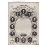 1876 Reproduction The Declaration of Independence Greeting Card