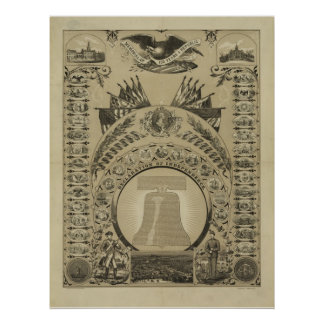 1876 Reproduction The Declaration of Independence Posters