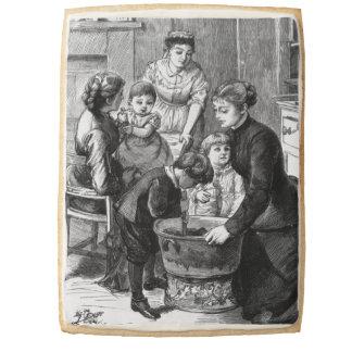 1876: The children help stir Christmas pudding Jumbo Cookie