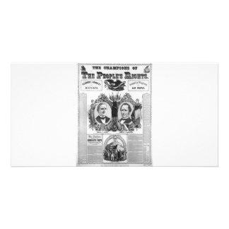 1876 Tilden - Hendricks Photo Card Template