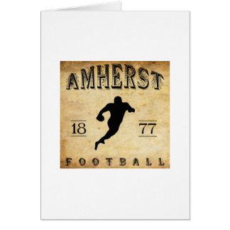 1877 Amherst Massachusetts Football Stationery Note Card