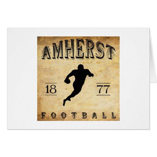 1877 Amherst Massachusetts Football Card
