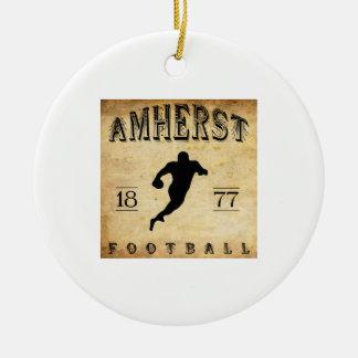 1877 Amherst Massachusetts Football Ceramic Ornament