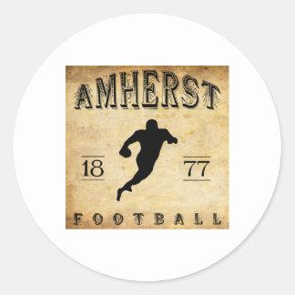 1877 Amherst Massachusetts Football Classic Round Sticker