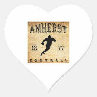 1877 Amherst Massachusetts Football Heart Sticker