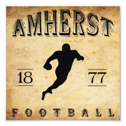 1877 Amherst Massachusetts Football Photo Art