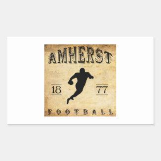 1877 Amherst Massachusetts Football Rectangular Sticker