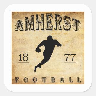 1877 Amherst Massachusetts Football Square Sticker