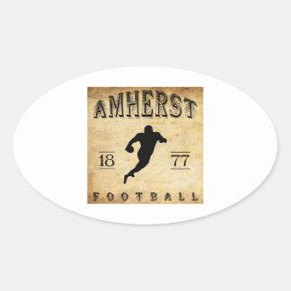 1877 Amherst Massachusetts Football Oval Sticker