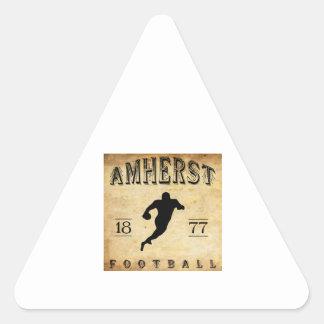 1877 Amherst Massachusetts Football Triangle Sticker