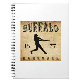 1877 Buffalo New York Baseball Spiral Note Book