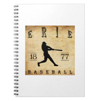 1877 Erie Pennsylvania Baseball Spiral Note Book