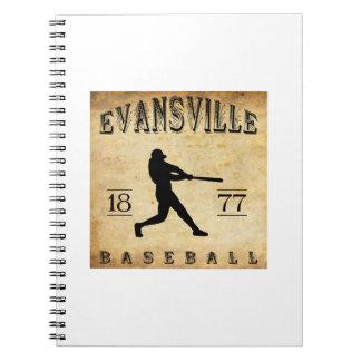 1877 Evansville Indiana Baseball Spiral Notebook