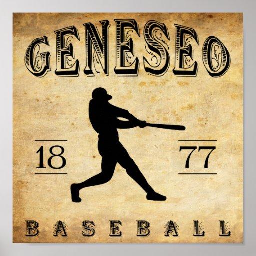 1877 Geneseo New York Baseball Poster