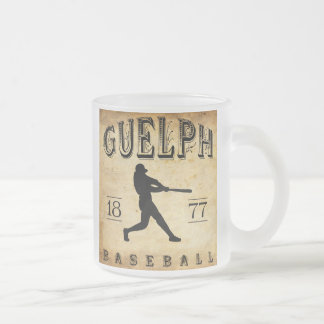 1877 Guelph Ontario Canada Baseball Frosted Glass Coffee Mug