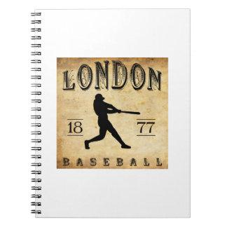 1877 London Ontario Canada Baseball Spiral Note Book