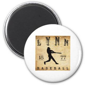 1877 Lynn Massachusetts Baseball 2 Inch Round Magnet