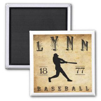 1877 Lynn Massachusetts Baseball 2 Inch Square Magnet