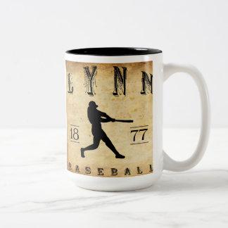 1877 Lynn Massachusetts Baseball Two-Tone Coffee Mug