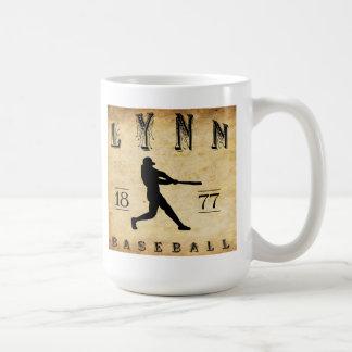 1877 Lynn Massachusetts Baseball Classic White Coffee Mug