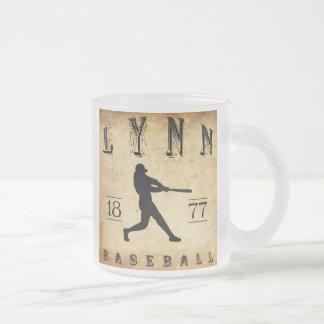 1877 Lynn Massachusetts Baseball 10 Oz Frosted Glass Coffee Mug