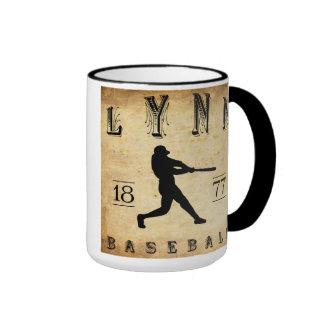 1877 Lynn Massachusetts Baseball Ringer Coffee Mug