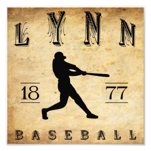 1877 Lynn Massachusetts Baseball Art Photo