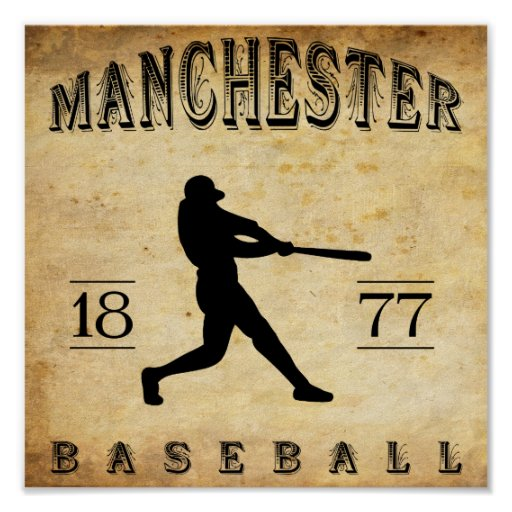 1877 Manchester New Hampshire Baseball Poster