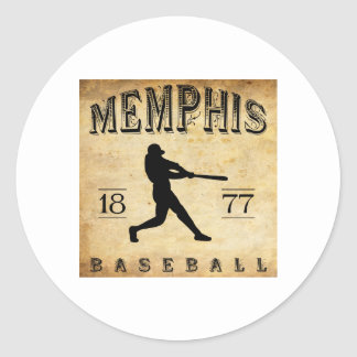 1877 Memphis Tennessee Baseball Round Stickers