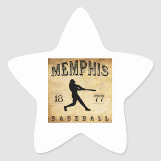 1877 Memphis Tennessee Baseball Star Sticker