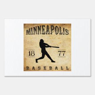 1877 Minneapolis Minnesota Baseball Lawn Signs