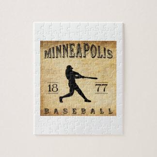 1877 Minneapolis Minnesota Baseball Jigsaw Puzzles