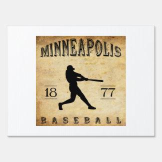 1877 Minneapolis Minnesota Baseball Sign