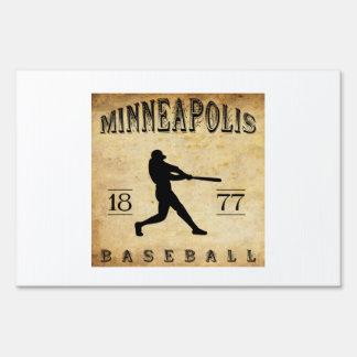 1877 Minneapolis Minnesota Baseball Signs