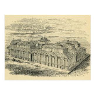 1877 plazas de dibujo de la Cebada Madrid Postales