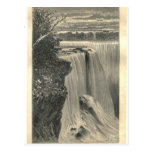 1877 Print Niagra Falls, Earth and its Peoples Postcards
