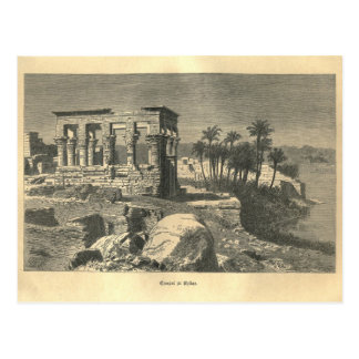 1877 Print Temple of Philae, The Earth and its Peo Postcard