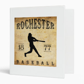 1877 Rochester New York Baseball 3 Ring Binders
