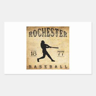 1877 Rochester New York Baseball Rectangular Sticker