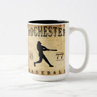 1877 Rochester New York Baseball Two-Tone Coffee Mug