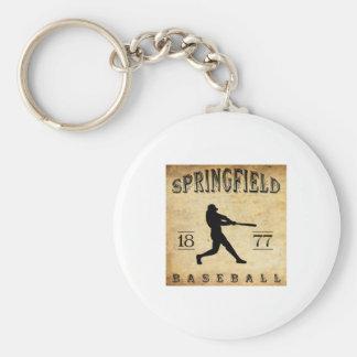1877 Springfield Ohio Baseball Basic Round Button Keychain