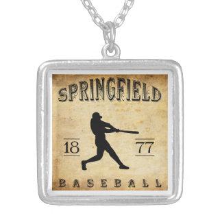 1877 Springfield Ohio Baseball Personalized Necklace