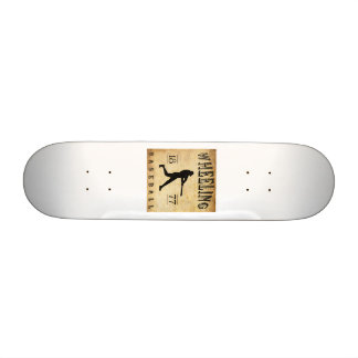 1877 Wheeling West Virginia Baseball Custom Skate Board