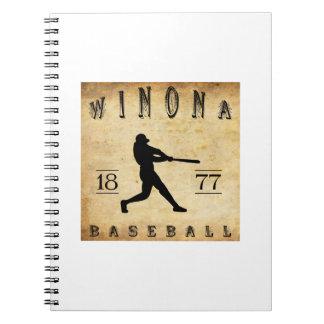 1877 Winona Minnesota Baseball Journals