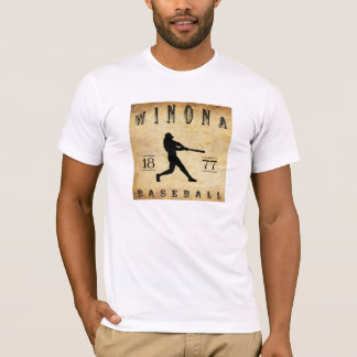 1877 Winona Minnesota Baseball T-Shirt