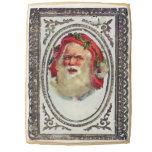 1878: A Victorian Christmas greetings card Jumbo Cookie