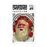 1878: A Victorian Christmas greetings card Postage Stamp